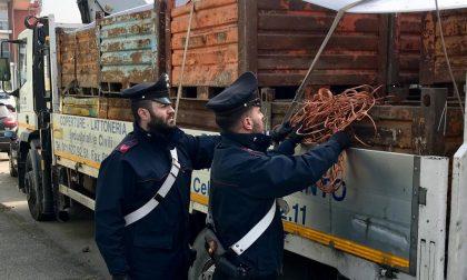 Rame rubato, i carabinieri ne ritrovano e sequestrano dieci tonnellate