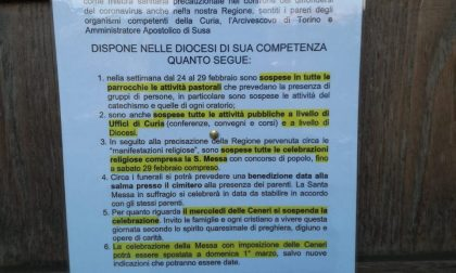 Messe sospese, il Coronavirus  stravolge anche i programmi delle  chiese