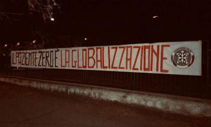 """""""Il paziente zero è la globalizzazione"""", striscioni di CasaPound in città"""