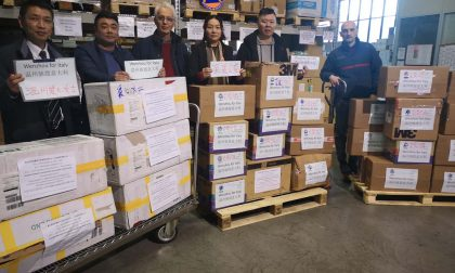Emergenza Coronavirus, la comunità cinese dona materiale sanitario al Piemonte