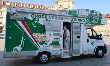 Emergenza Coronavirus: tre mezzi dell'Anpas per assistenza all'Asl di Torino. FOTO