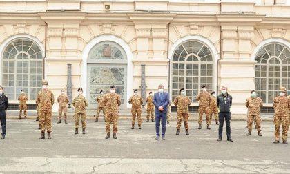 Coronavirus, arrivati in Piemonte i 25  marescialli infermieri dell'esercito. Le FOTO