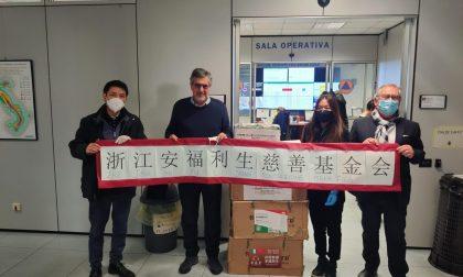 Ventilatori polmonari donati dalla Cina. FOTO