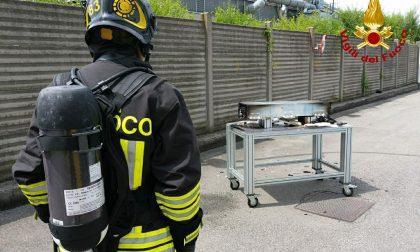 Batteria in fiamme: intervengono i Vigili del fuoco