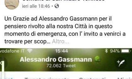 Gassmann abbraccia San Mauro, il ringraziamento del Comune