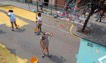 Via Italia pedonale, la strada si colora VIDEO