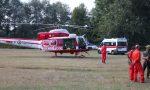 Sbalzato dalla bici sul sentiero, soccorso dall'elicottero dei vigili del fuoco e dal 118 FOTO e VIDEO