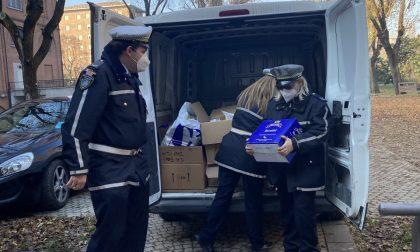La spesa solidale della Polizia municipale per le famiglie in difficoltà