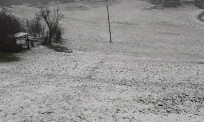 Continua il maltempo, in collina è tornata anche la neve