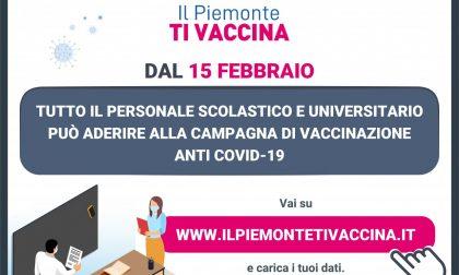 Iniziata la campagna vaccinale per  personale e docenti del mondo scolastico e universitario