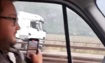 Il video del camion contromano lungo l'Autostrada del Brennero