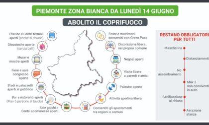 """Con il Piemonte in zona bianca """"abolito"""" il coprifuoco"""