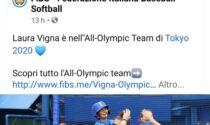 """Olimpiadi,  la settimese Laura Vigna nella squadra """"ideale"""" di softball a Tokyo 2020"""