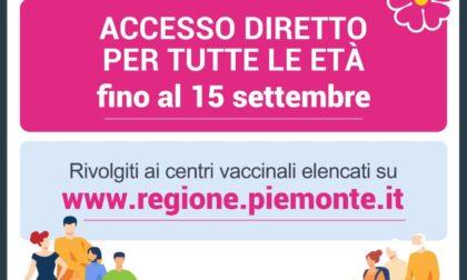 Vaccinazioni, fino al 15 settembre accesso diretto per tutte le fasce d'età