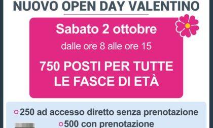 Sabato 2 ottobre 2021 un nuovo open day al Valentino