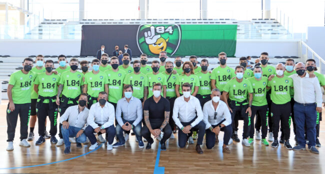 La L84 presenta la serie A nel nuovo palazzetto dello sport di Settimo. Protagonisti d'eccezione il presidente Lorenzo Bonaria e Claudio Marchisio