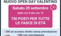 Lotta al Covid, sabato 25 settembre 2021 nuovo open day al Valentino