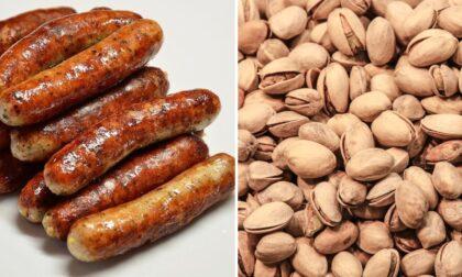 Tossine cancerogene e allergeni non dichiarati nei pistacchi e nei wurstel